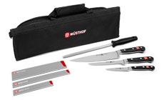 Wusthof Classic Knife Roll Kit with Bonus Blade Guards