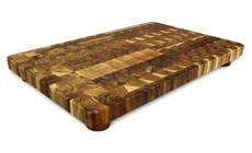 Madeira Teak End Grain Cutting Board with Feet