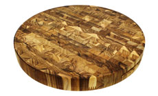 Madeira Teak End Grain Round Chopping Block