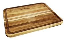 Madeira Teak Edge Grain Cutting Board with Groove