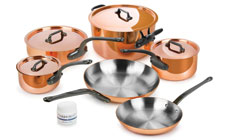 Mauviel M'heritage 150C Copper Cookware Set