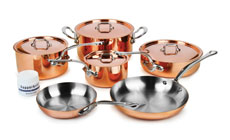 Mauviel M'heritage 150S Copper Cookware Set