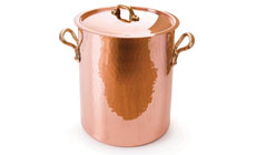 Mauviel M'passion Hammered Copper Tin-Lined Soup Pot