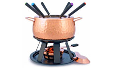 Swissmar Biel Hammered Copper Fondue Set
