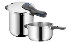 WMF Perfect Plus 8.5 & 4.5-quart Stainless Steel Pressure Cooker Set