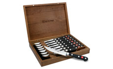 Wusthof Classic Serrated Steak Knife Set with Walnut Case
