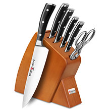 Wusthof Classic Ikon 7-piece Slim Knife Block Sets