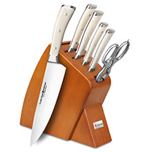 Wusthof Classic Ikon Creme 7-piece Slim Knife Block Sets
