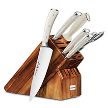 Wusthof Classic Ikon Creme 7-piece Knife Block Sets