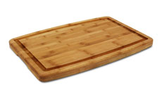 Cutlery and More Bamboo Carving Board with Groove & Hand Grips