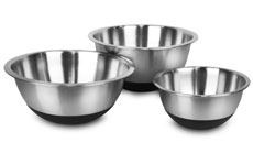 Amco Stainless Steel Non-Skid Mixing Bowl Set
