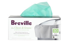 Breville Clean & Green Biodegradable Pulp Container Bag for Juicers