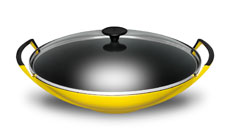 Le Creuset Cast Iron 14¼-inch Round Bottom Wok