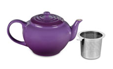 Le Creuset Stoneware 1-quart Large Teapots with Stainless Steel Infuser
