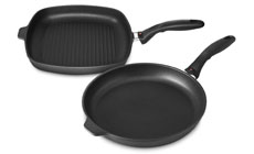 Swiss Diamond Nonstick Induction Fry Pan & Grill Pan Set