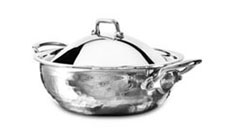 Mauviel M'elite Hammered Stainless Steel Casseroles