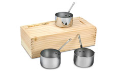 Mauviel M'cook Stainless Steel Mini Saucepan Set