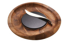 Nambe Butterfly Cheese Tray with Knife