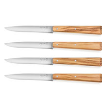 Opinel Olive Wood Handle Steak Knife Set