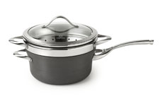Calphalon Contemporary Nonstick Saucepan with Steamer Insert