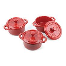 Staub Ceramic 3-piece Mini Cocotte Sets