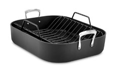 All-Clad Hard-Anodized Nonstick Roasting Pan with Rack