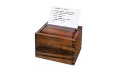 Cutlery and More Acacia Wood Recipe Box