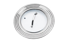 RSVP Endurance Universal Stainless Steel & Glass Lid