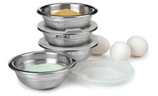 RSVP Endurance Stainless Steel Prep Bowl Set with Lids