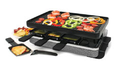 Swissmar Eiger Raclette Grill with Reversible Cast Iron Grill Plate