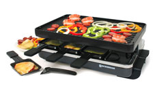 Swissmar 8-person Classic Raclette Grills with Reversible Cast Iron Grill Plate