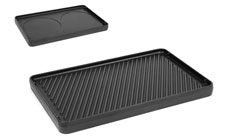 Swissmar Cast Iron Reversible Grill Plate for Classic, Eiger & Stelvio Raclette