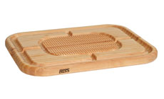 John Boos Maple Pyramid Design Carving Board with Groove