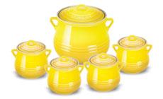 Le Creuset Stoneware 5-piece Heritage Bean Pot Sets