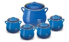 Le Creuset Stoneware 5-piece Heritage Bean Pot Set