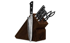 Tojiro DP Damascus 6-piece Knife Block Sets