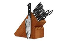 Tojiro DP Damascus 8-piece Knife Block Sets