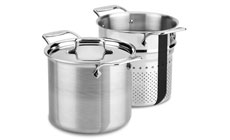 All-Clad d5 Brushed Stainless Pasta Pentola Stock Pot with Insert