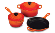 Le Creuset Signature Cast Iron 5-piece Cookware Sets