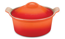 Le Creuset Stoneware 3-quart Heritage Covered Round Casseroles