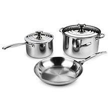 Le Creuset Stainless Steel Cookware Set