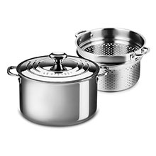 Le Creuset Stainless Steel Stockpot with Pasta/Colander Insert