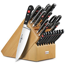 Wusthof Classic 20-piece Knife Block Sets with Stamped Steak Knives