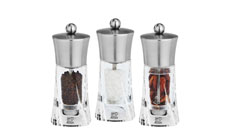 Peugeot Ouessant Stainless Steel & Acrylic Trio Mill Set