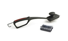 Charcoal Companion Monster Grill Brush with Extra Replacement Head
