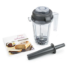 Vitamix Dry Blade Container with Whole Grains Cookbook & Mini-Tamper