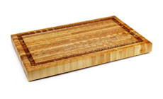 Larch Wood End Grain Cutting Board with Groove