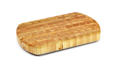 Larch Wood Curved End Grain Cutting Board