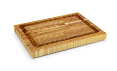 Larch Wood End Grain Carving Board with Groove