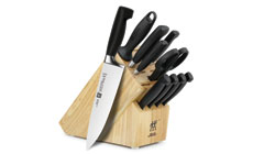 Zwilling J.A. Henckels Four Star Knife Block Set with Bonus 4-piece Steak Knife Set